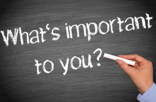 """Chalkboard reading """"What's Important to You?"""", relating to voice of the customer"""