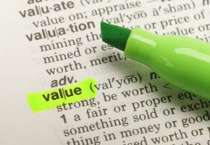 Highlighted definition of value portraying the benefits of a smart innovation strategy.